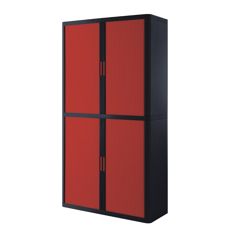 Armoire à dossiers easyOffice - Noir / Rouge - 204 cm, easy Office und Paperflow