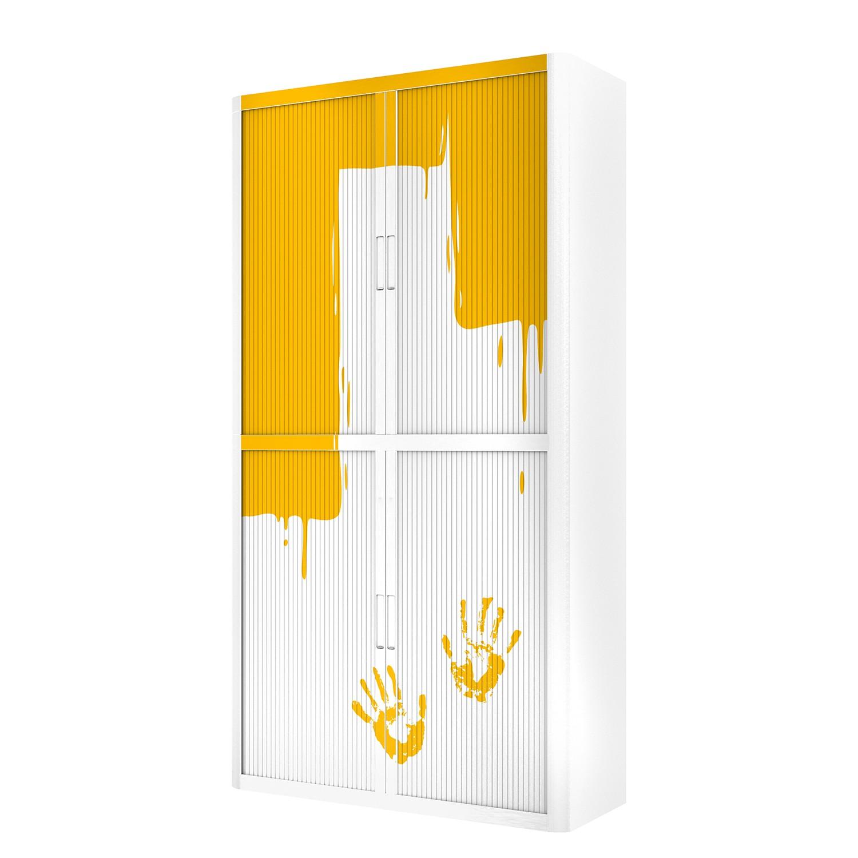 Aktenschrank easyOffice Stickers I   Büro > Büroschränke > Aktenschränke   Gelb   Kunststoff   easyOffice by Paperflow
