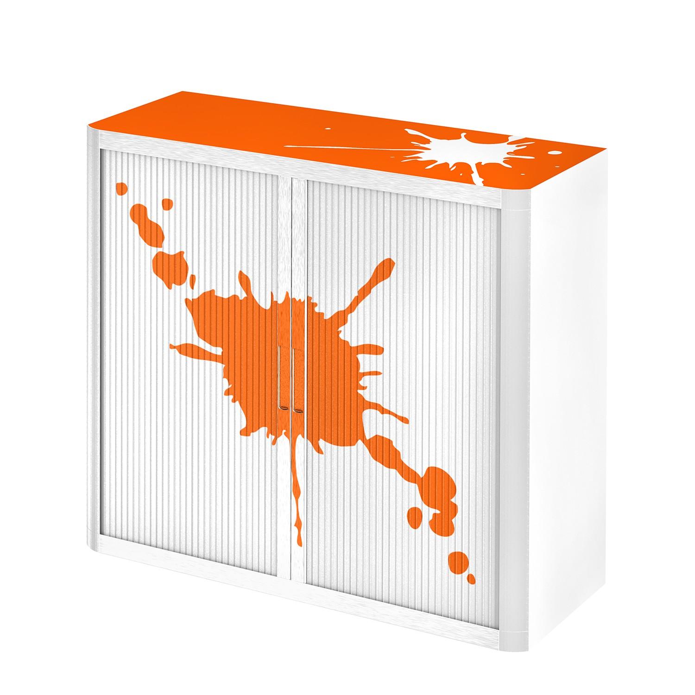 home24 Aktenschrank easyOffice Stickers II | Büro > Büroschränke | Orange | Kunststoff | easyOffice by Paperflow
