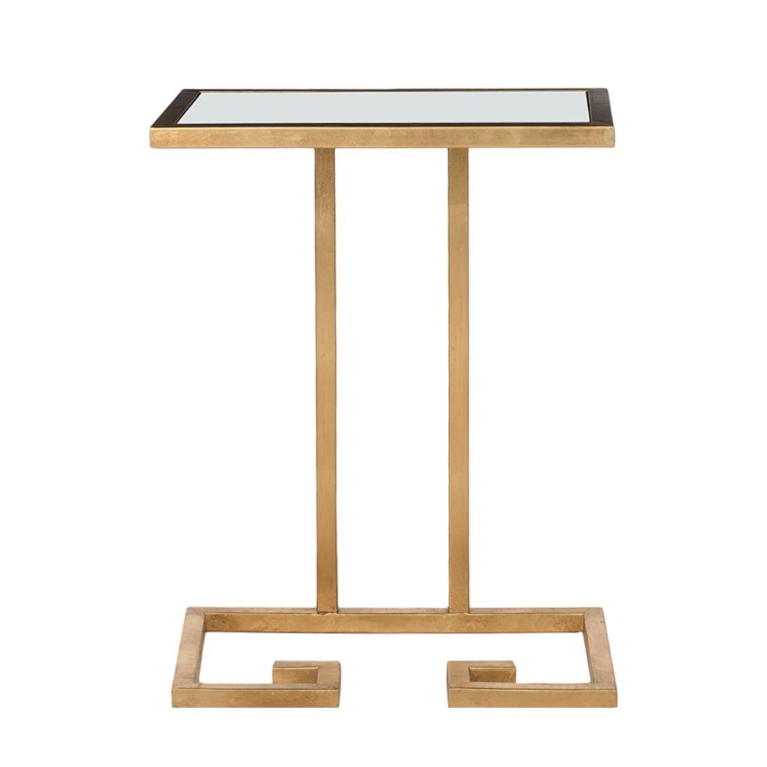 Table d'appoint Murphy - Fer doré / Verre blanc, Safavieh