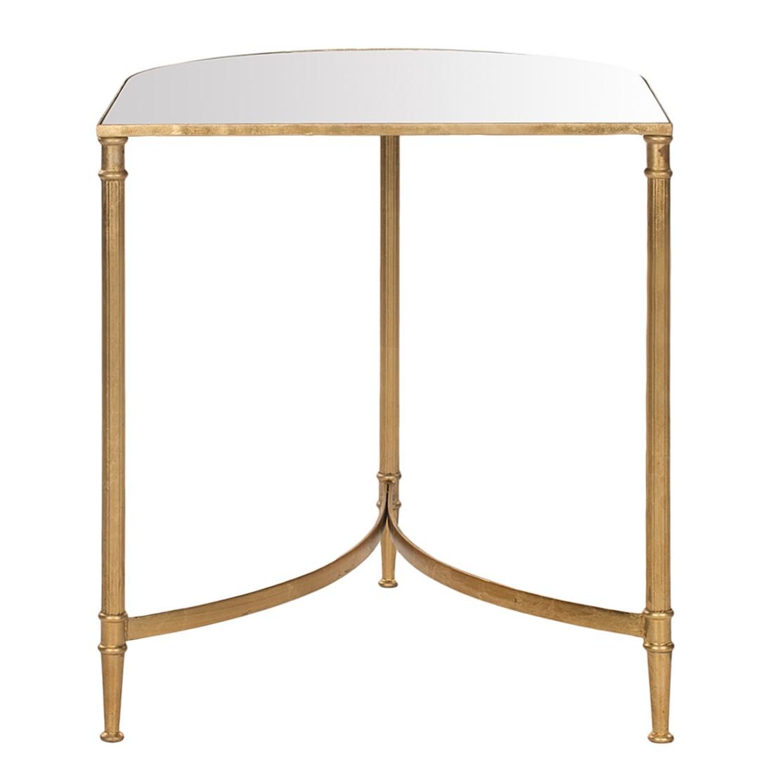 Table d'appoint Nevin - Fer doré / Miroir en verre, Safavieh
