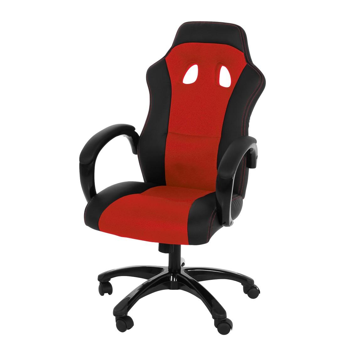 Chefsessel Arlington - Kunstlederbezug - rot/schwarz, loftscape