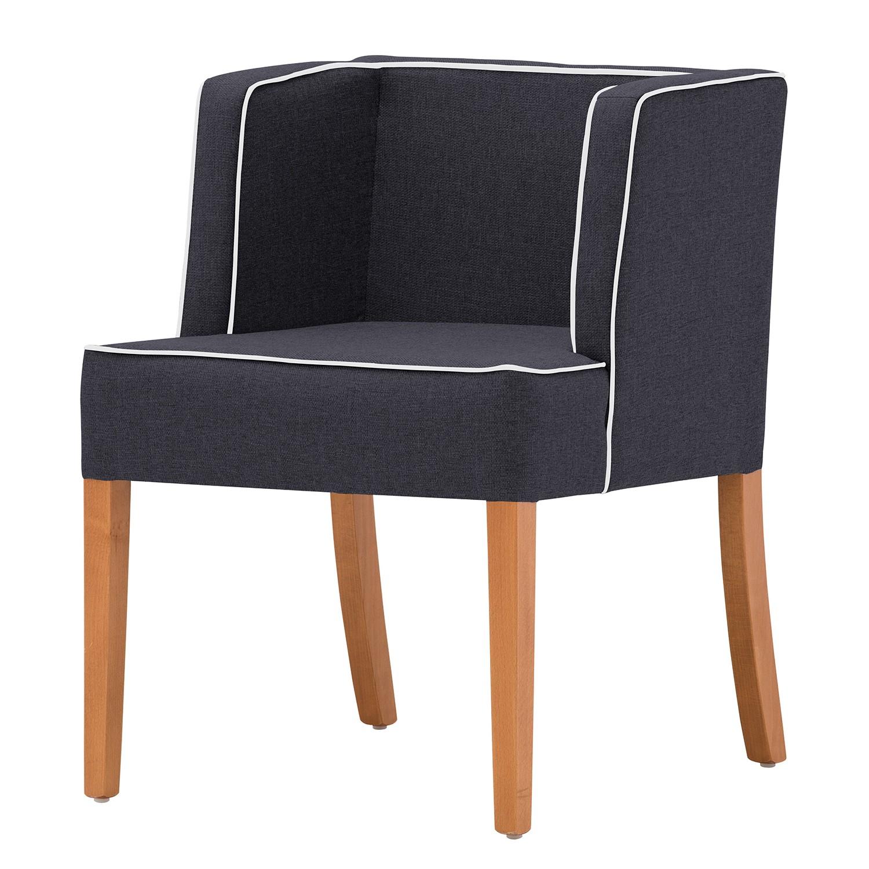 home24 Armlehnenstuhl Alia | Küche und Esszimmer > Stühle und Hocker > Armlehnstühle | Grau | Textil | Ars Natura