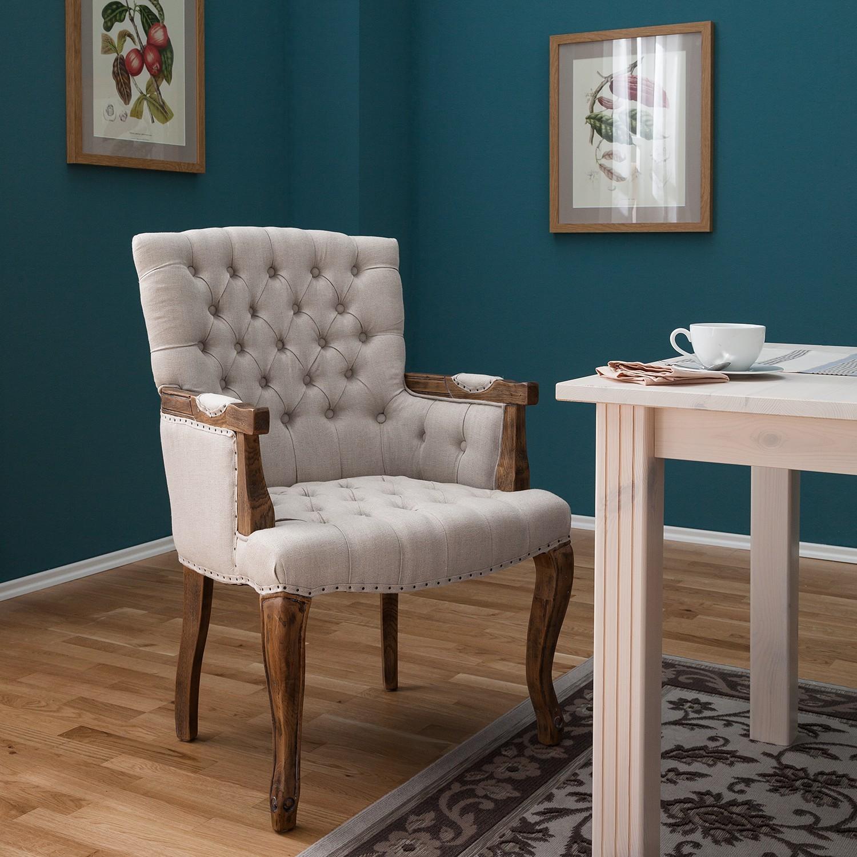 home24 Armlehnenstuhl Arriga Webstoff   Küche und Esszimmer > Stühle und Hocker > Armlehnstühle