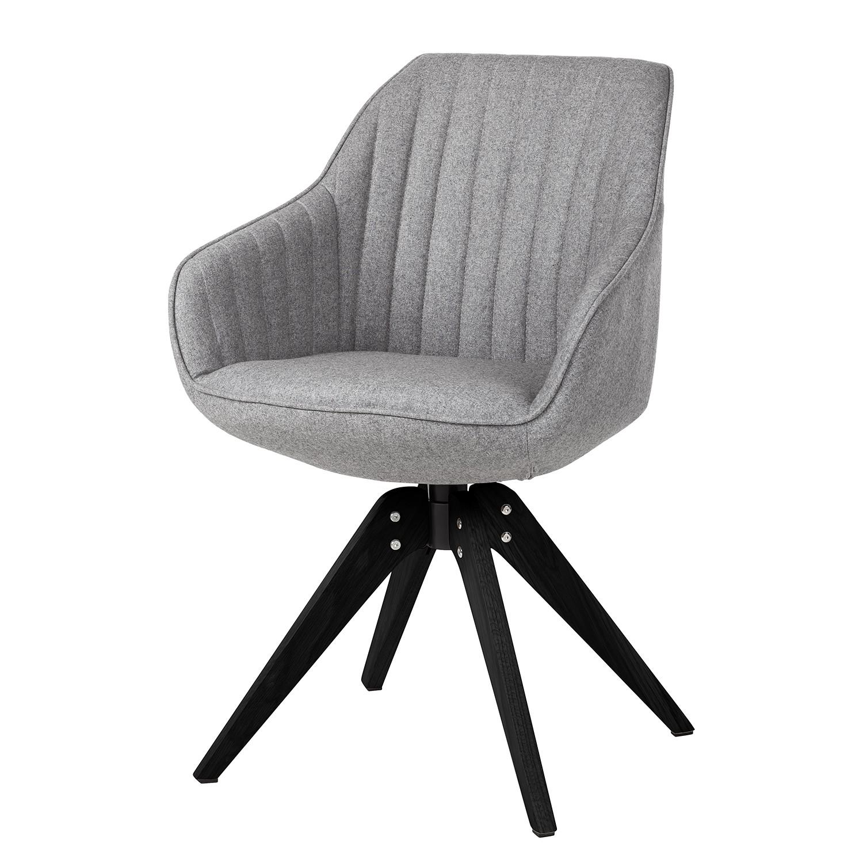 armlehnenstuhl ermelo webstoff eiche grau schwarz stuhl sessel konferenzstuhl ebay. Black Bedroom Furniture Sets. Home Design Ideas