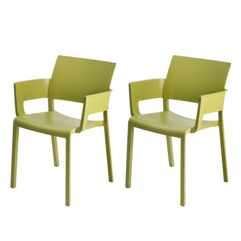 home24 Armlehnenstuhl Fiona (2er-Set)   Küche und Esszimmer > Stühle und Hocker > Armlehnstühle