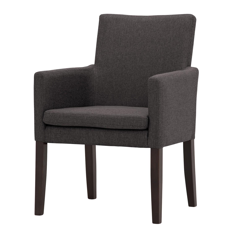 Armlehnenstuhl Katha | Küche und Esszimmer > Stühle und Hocker > Armlehnstühle | Braun | Textil | Ars Natura