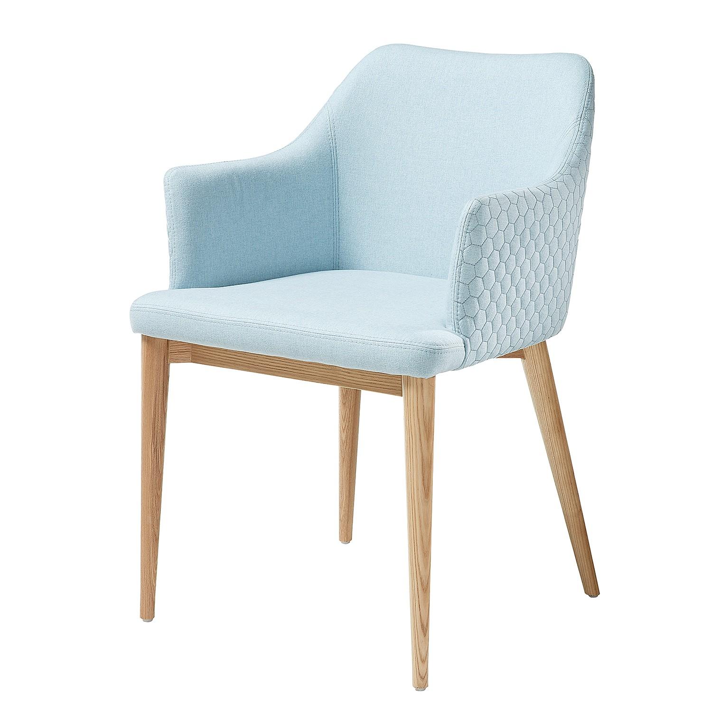 home24 Armlehnenstuhl Serba   Küche und Esszimmer > Stühle und Hocker > Armlehnstühle   Blau   Textil   Norrwood