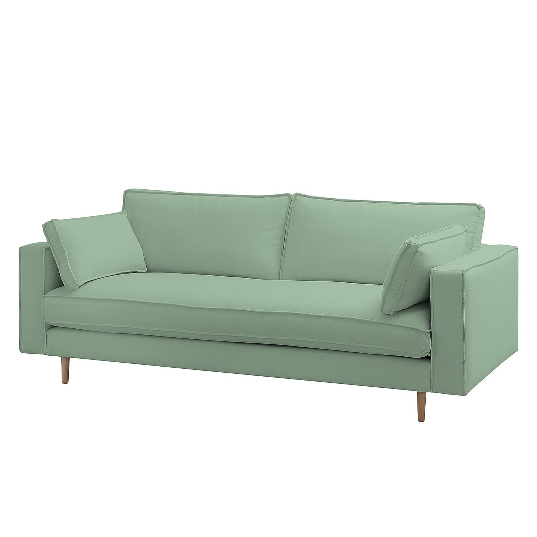 Sofa Momi (3-Sitzer) Webstoff - Stoff Moretey Mint