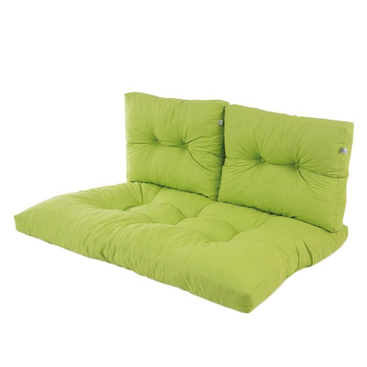 Auflage für Gartenbank Flocke (3-teilig) - Webstoff - Grasgrün, bei Home24 - Gartenmöbel