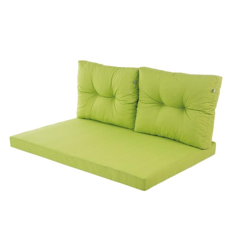Auflage für Gartenbank Platte (3-teilig) - Webstoff - Grasgrün, Hg