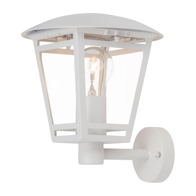 EEK A++, Außenwandleuchte Riley Lantern I - Glas / Eisen - 1-flammig - Weiß, Brilliant