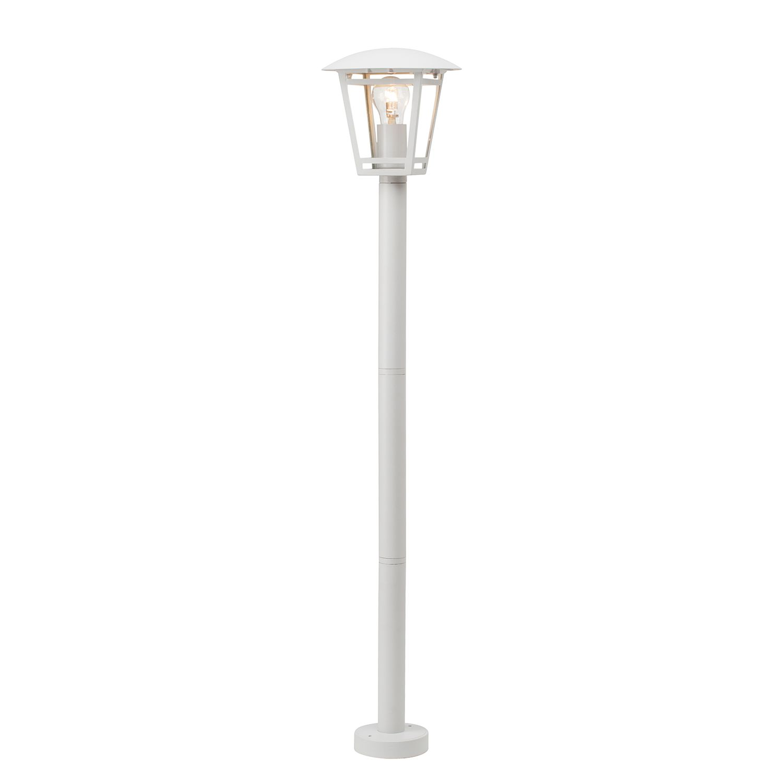 EEK A++, Laterne Riley Lantern - Glas / Eisen - 1-flammig - Weiß, Brilliant