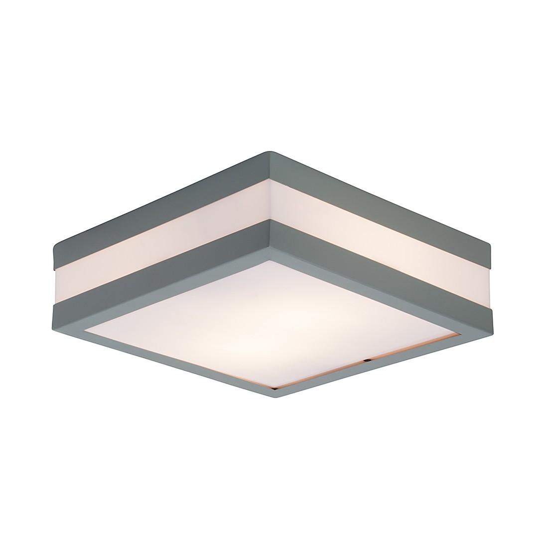 EEK A++, Außenleuchte Sally - Aluminium/Edelstahl/Kunststoff - Grau & Weiß - 2-flammig, Brilliant
