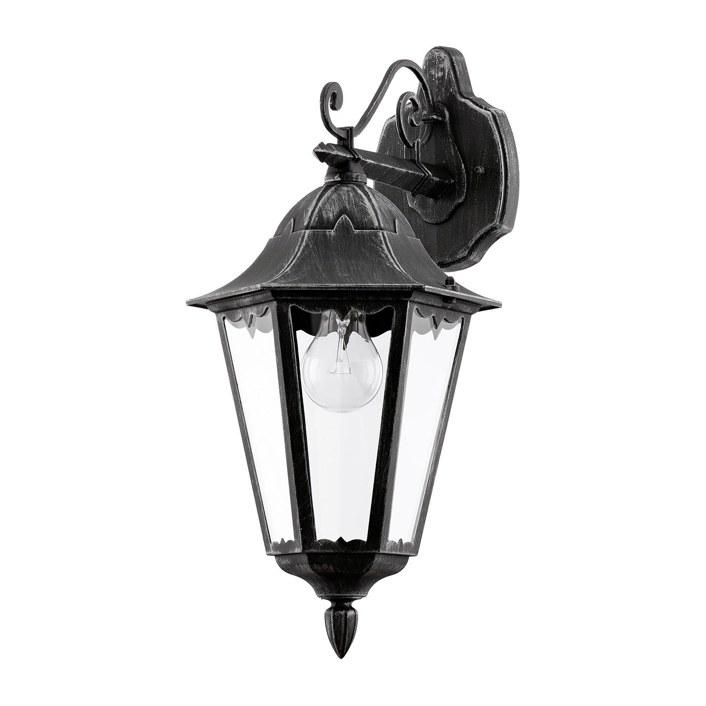 home24 Aussenwandleuchte Navedo I | Lampen > Aussenlampen > Wandleuchten | Schwarz | Eglo