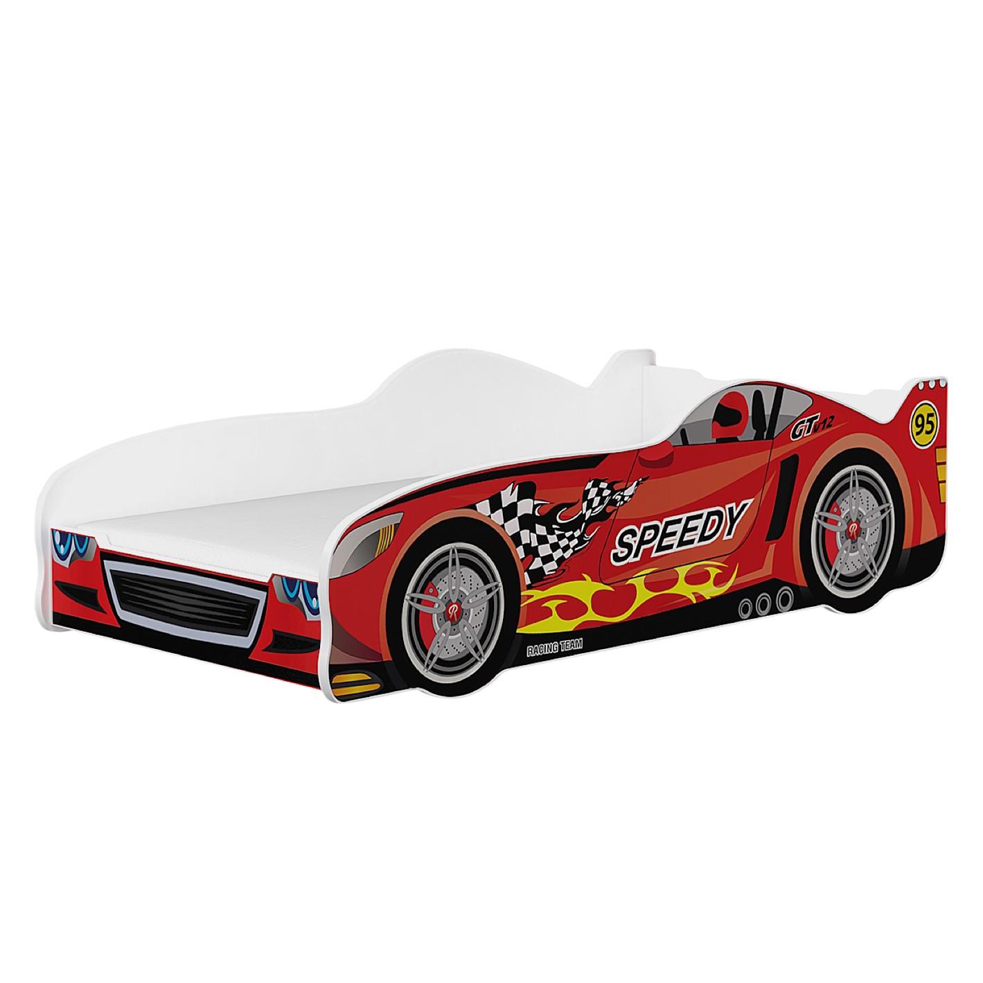home24 Autobett Speedy | Kinderzimmer > Kinderbetten | Rot | Holzwerkstoff | Relita