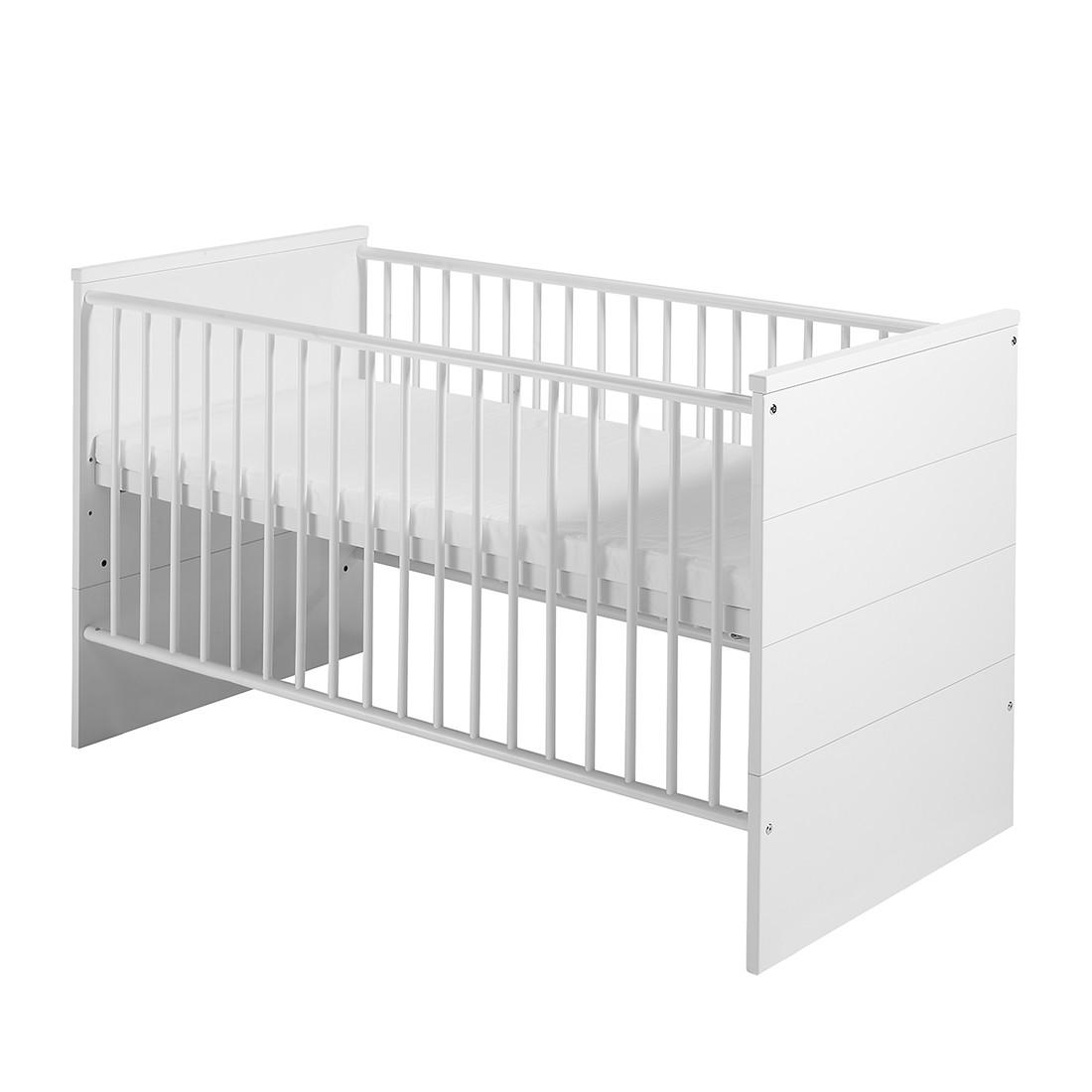 home24 Babybett Eco Stripe | Kinderzimmer > Babymöbel > Babybetten & Babywiegen | Weiss | Holzwerkstoff | Schardt