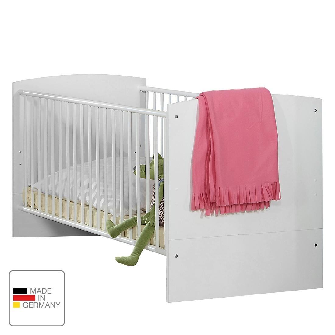 Lettino per bambini Gina - Bianco alpino/Color mora lucido Letto per bambini Gina - Bianco alpino/Color mora lucido, Wimex