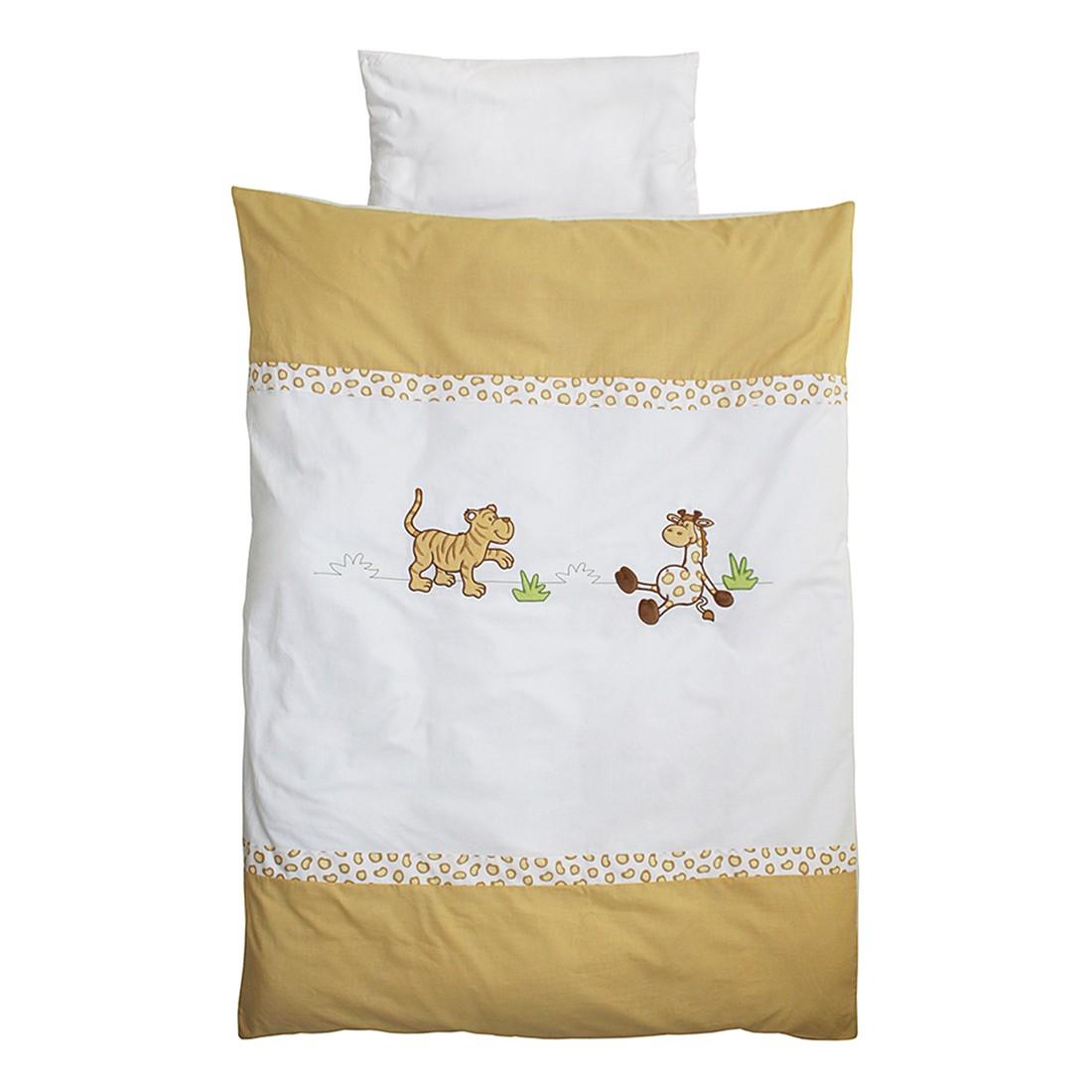home24 Babybettwaesche Safari (2-teilig) | Kinderzimmer > Babymöbel > Babybetten & Babywiegen | Weiss | Textil | Roba
