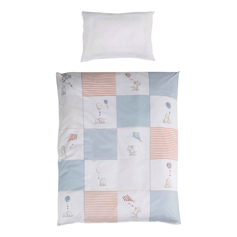 home24 Babybettwaesche Vintage Bear | Kinderzimmer > Babymöbel | Blau | Textil | Roba