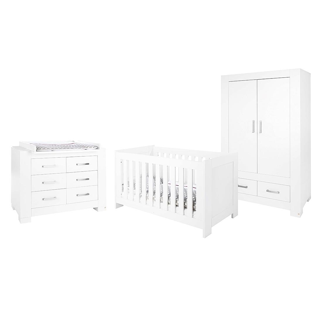 Babyzimmer Ice Kids - Lack Weiß, Pinolino