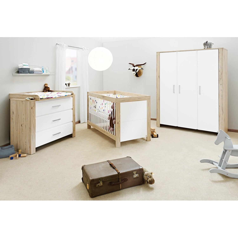 Babyzimmerkombination Candeo Kids (3-teilig) - Eiche Dekor / Weiß, Pinolino
