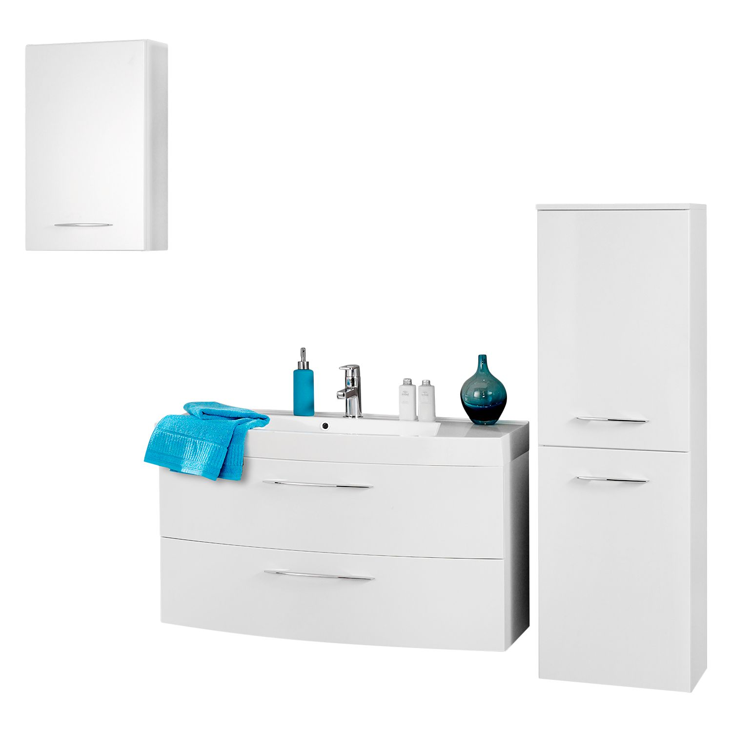 home24 Badezimmer-Set Florida (3-teilig)