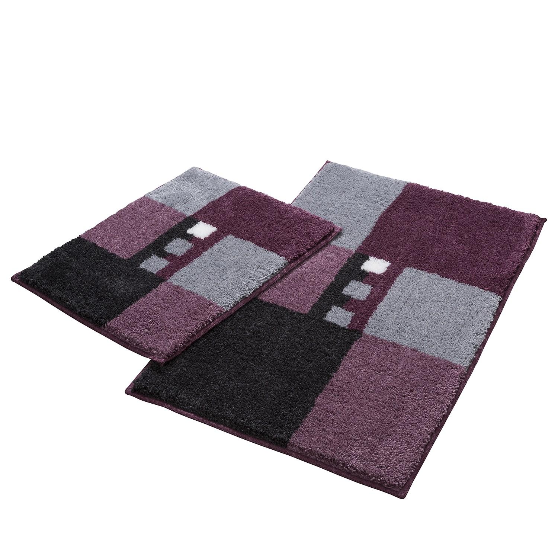 Badgarnitur Merkur Quad I (2-teilig)   Bad > Badgarnituren > Badgarnituren-Sets   Grau   Textil   home24