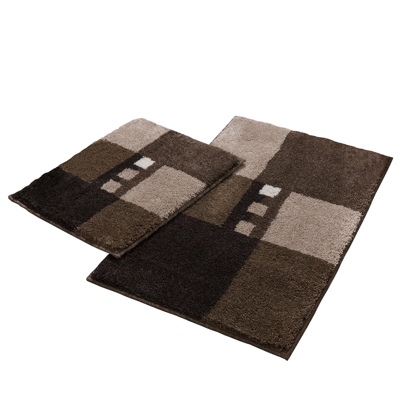 home24 Badgarnitur Merkur Quad I (2-teilig) | Bad > Badgarnituren > Badgarnituren-Sets | Braun | Textil | Grund