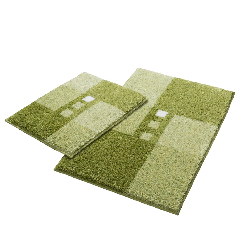 Badgarnitur Merkur Quad I (2-teilig)   Bad > Badgarnituren > Badgarnituren-Sets   Gruen   Textil   home24