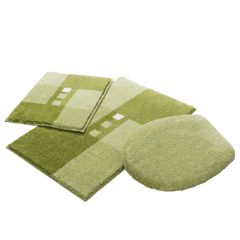 home24 Badgarnitur Merkur Quad II (3-teilig) | Bad > Badgarnituren > Badgarnituren-Sets | Gruen | Textil | Grund
