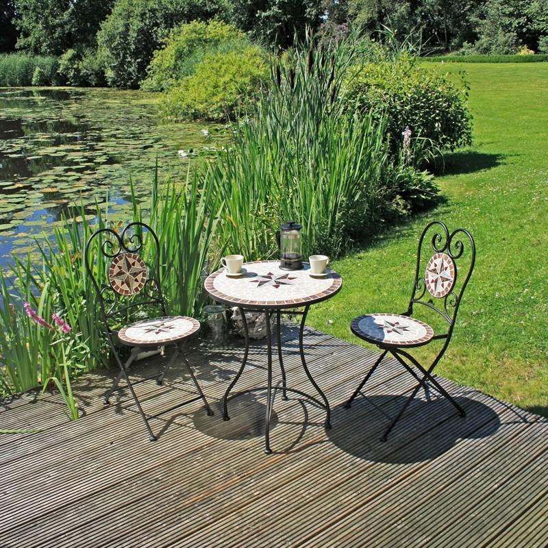 home24 Balkonmoebelset Amarillo (3-teilig)   Garten > Balkon   Braun   Garden Pleasure