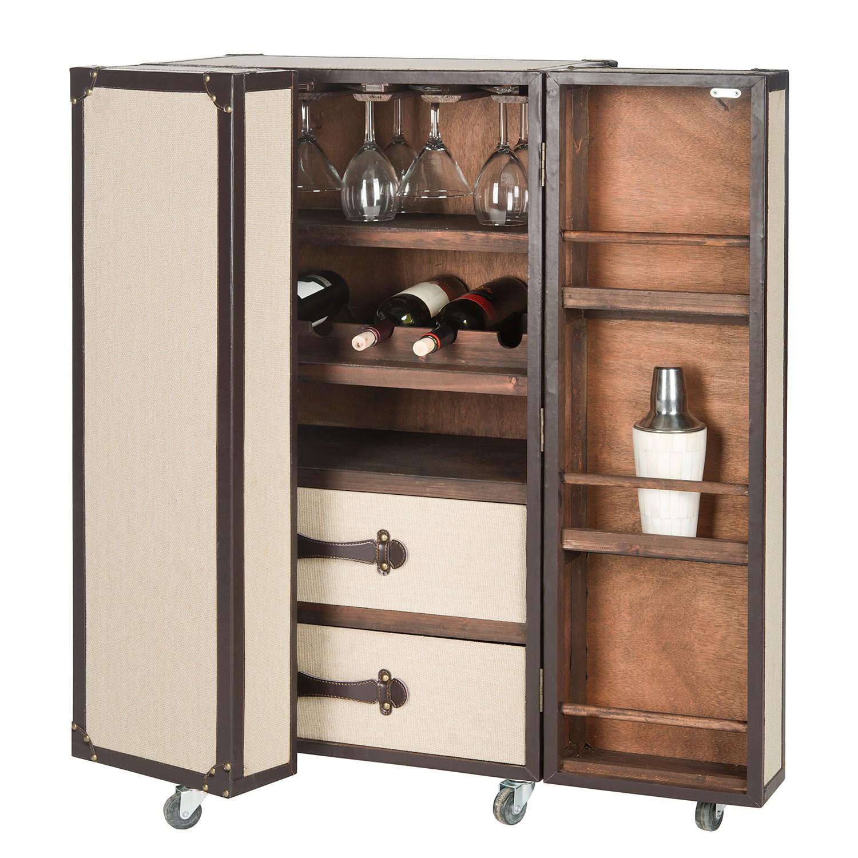 home24 Barschrank Kudra | Küche und Esszimmer > Bar-Möbel > Barschränke | Beige | Holzwerkstoff | Safavieh