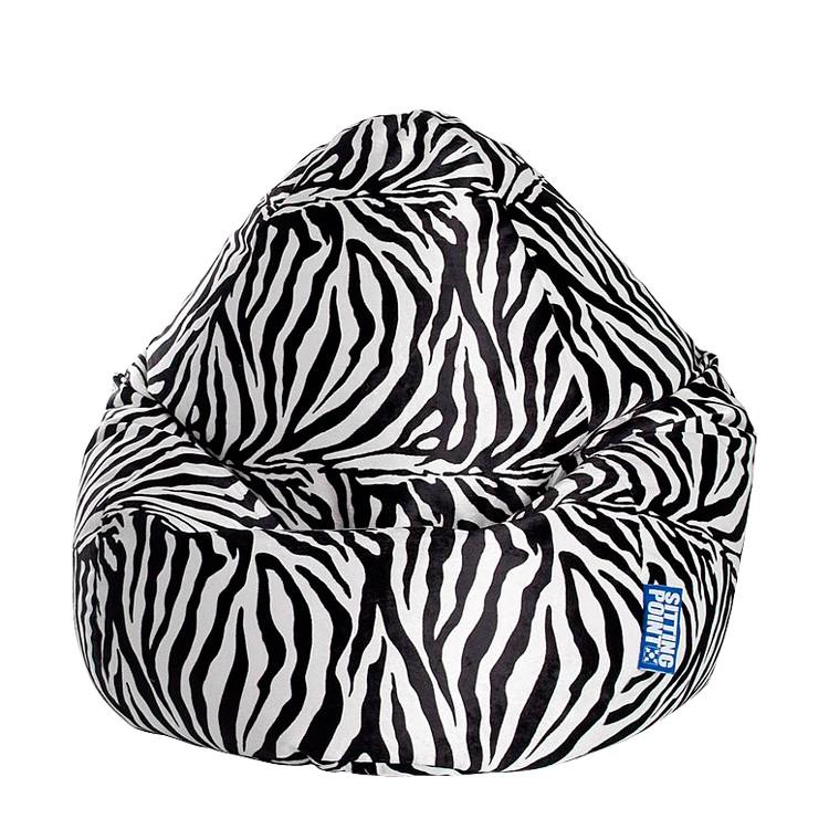 Poltrona sacco Afro - XL - Tessuto - Nero / Bianco, SITTING POINT
