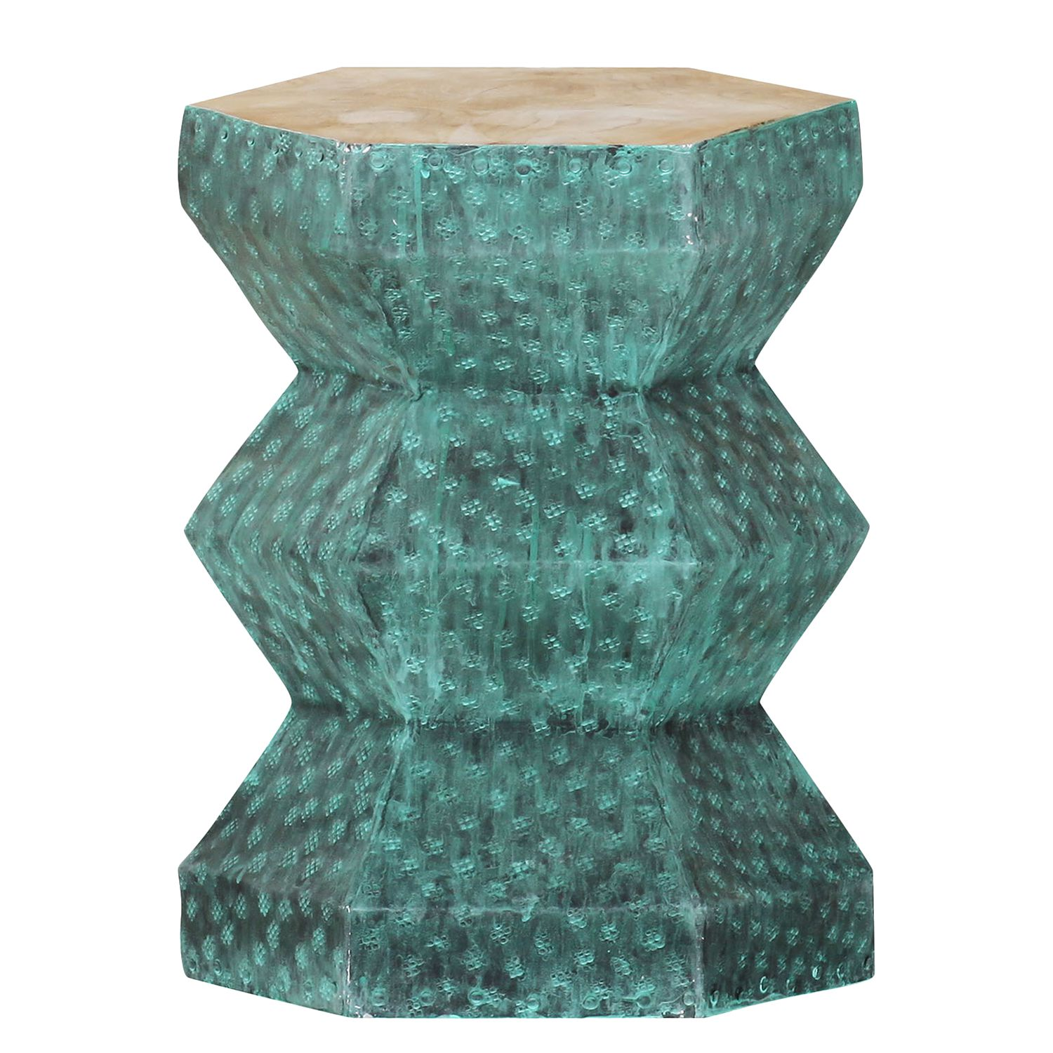Table d'appoint Malvan - Turquoise, roomscape
