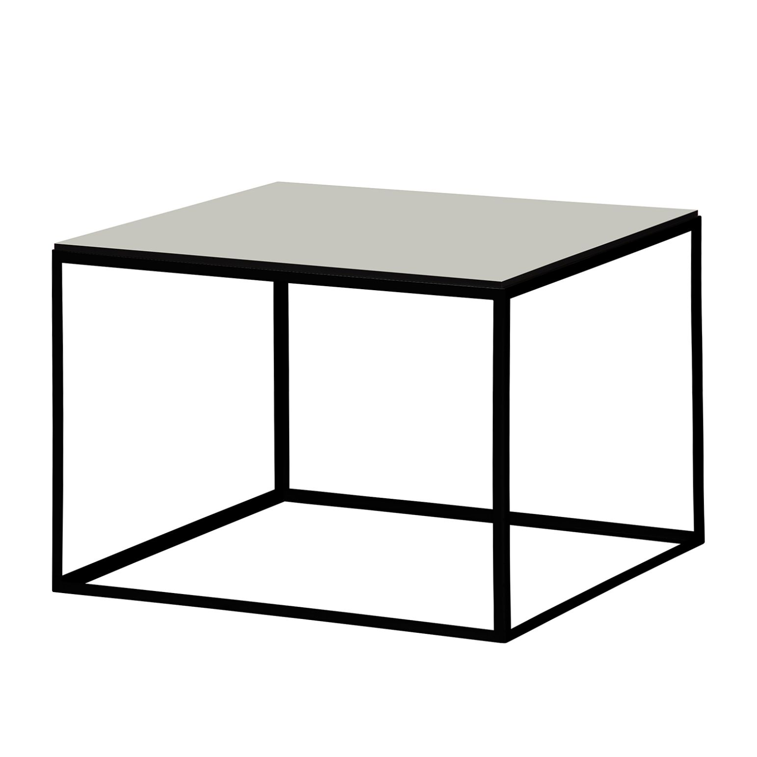 Table d'appoint Piet I - Blanc suédois / Noir, Studio Copenhagen
