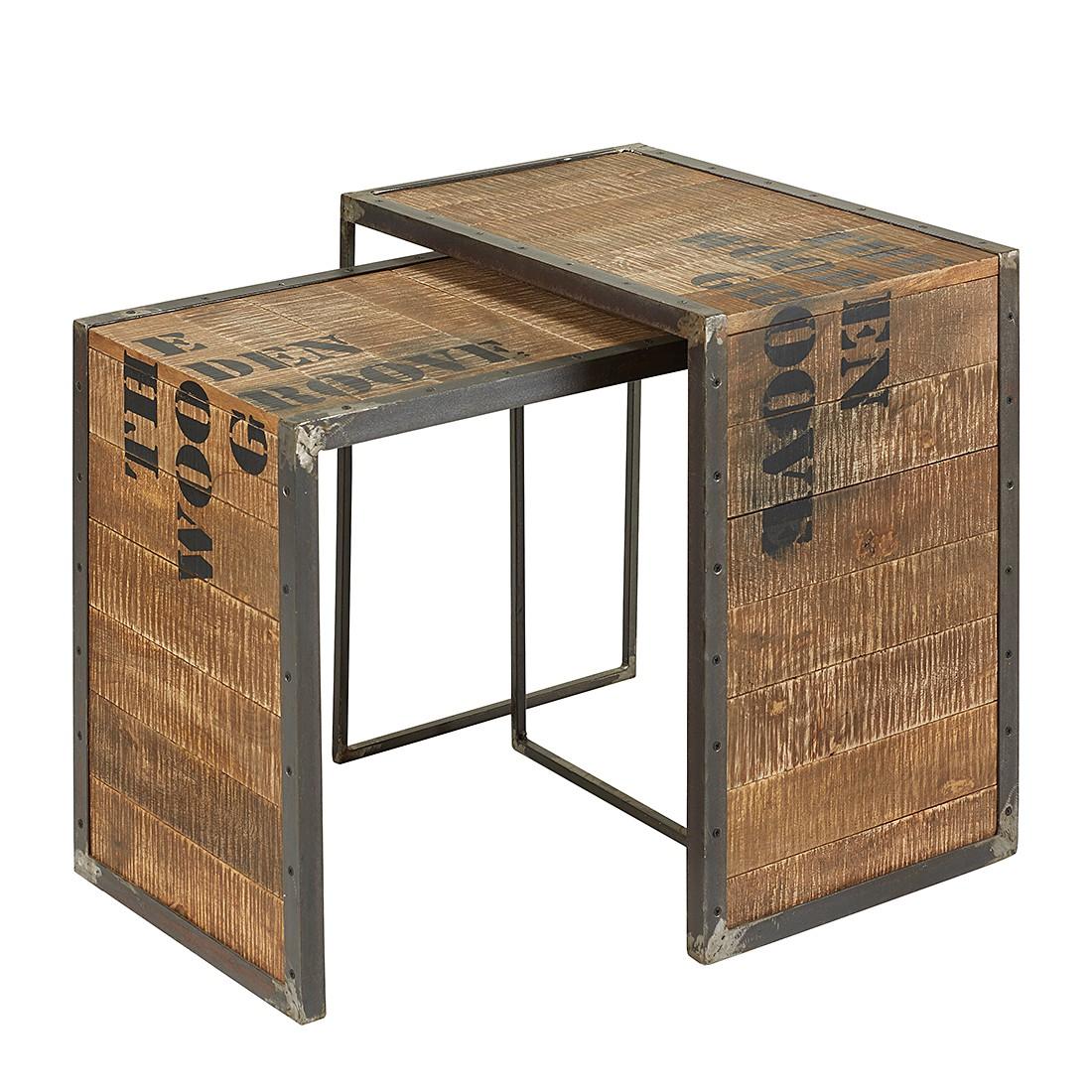 Set di tavolini Scarba (2 pezzi) - Legno massello mango, ars manufacti