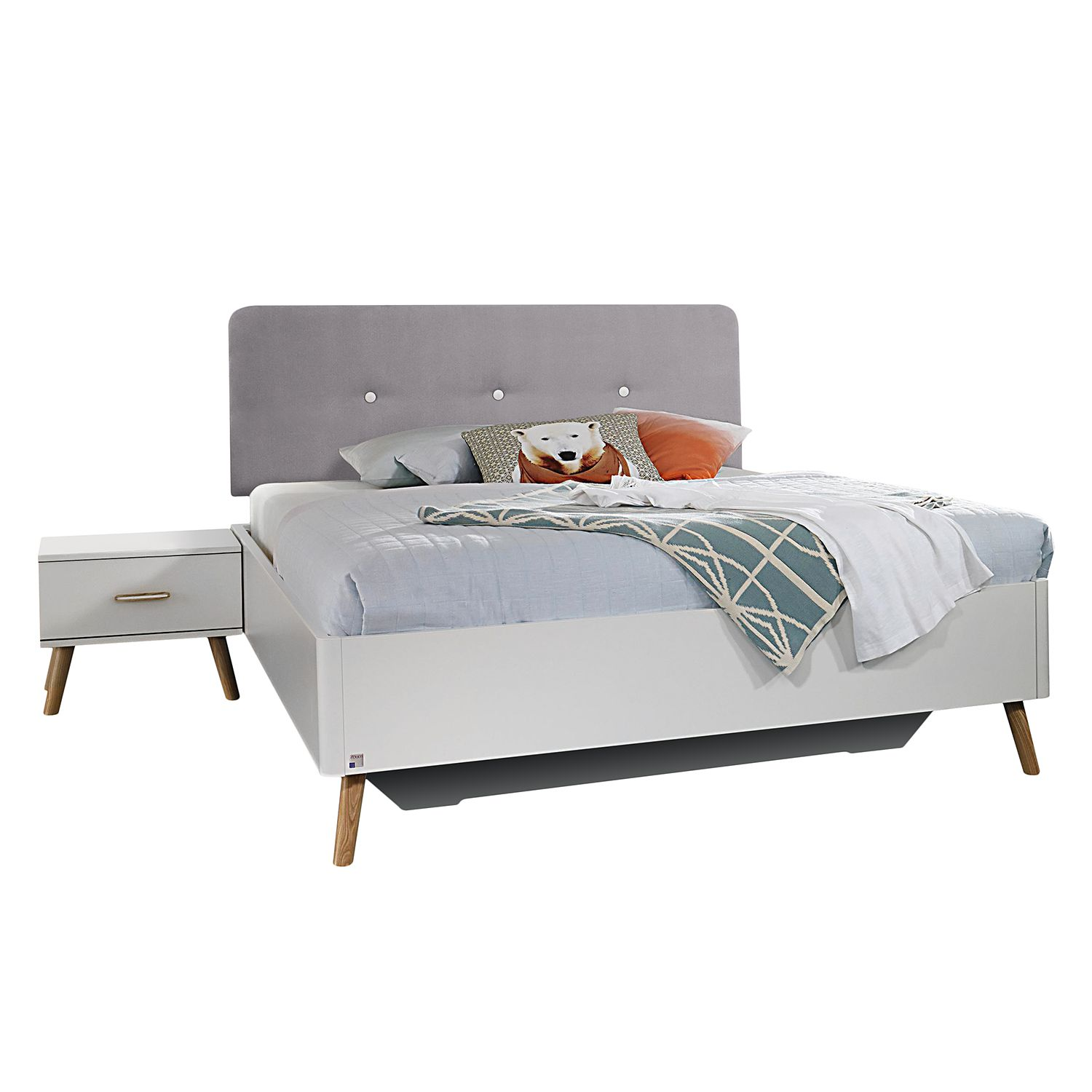 goedkoop Bed Annett wit 140 x 200cm Rauch Packs