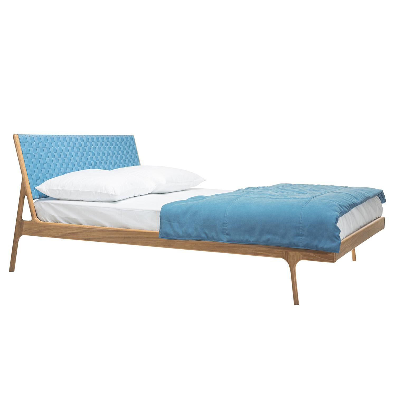 goedkoop Bed Fawn II massief eikenhout 160 x 200cm Eikenhout Ijsblauw Gazzda