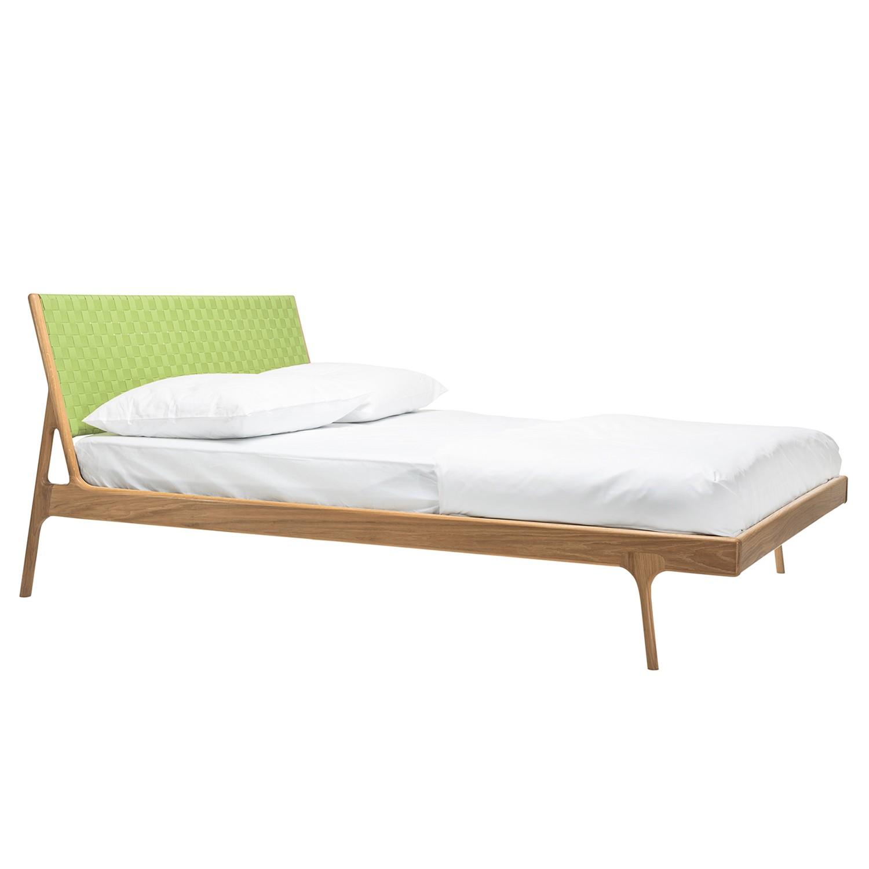 goedkoop Bed Fawn II massief eikenhout 160 x 200cm Eikenhout Grasgroen Gazzda