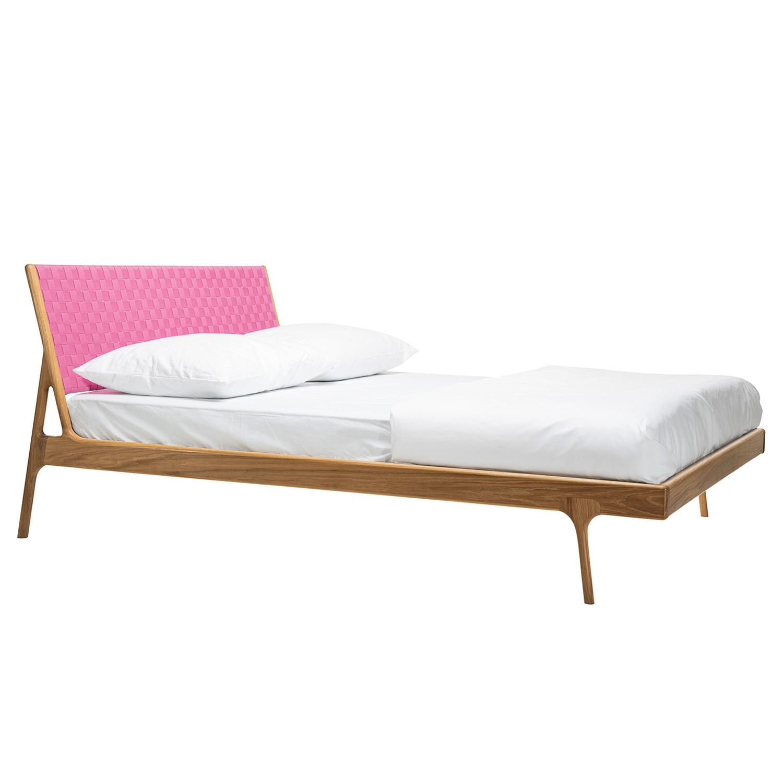 goedkoop Bed Fawn II massief eikenhout 180 x 200cm Eikenhout Framboos Gazzda