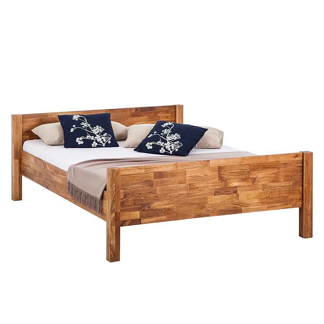 goedkoop Massief houten bed John 90 x 200cm Eik Ars Natura