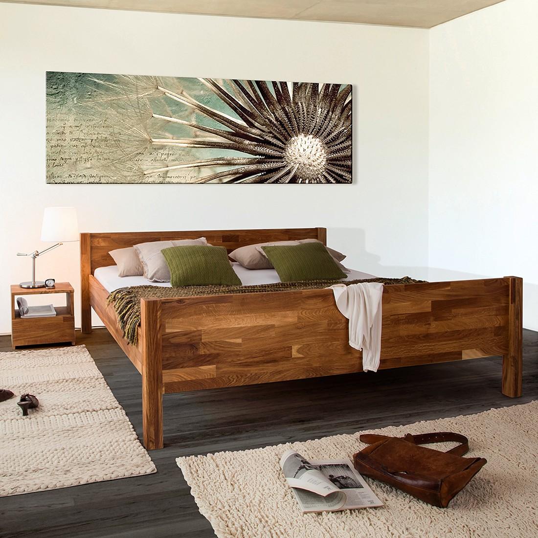 home24 Ars Natura Massivholzbett JohnWOOD 180x200 cm Massivholz Eiche