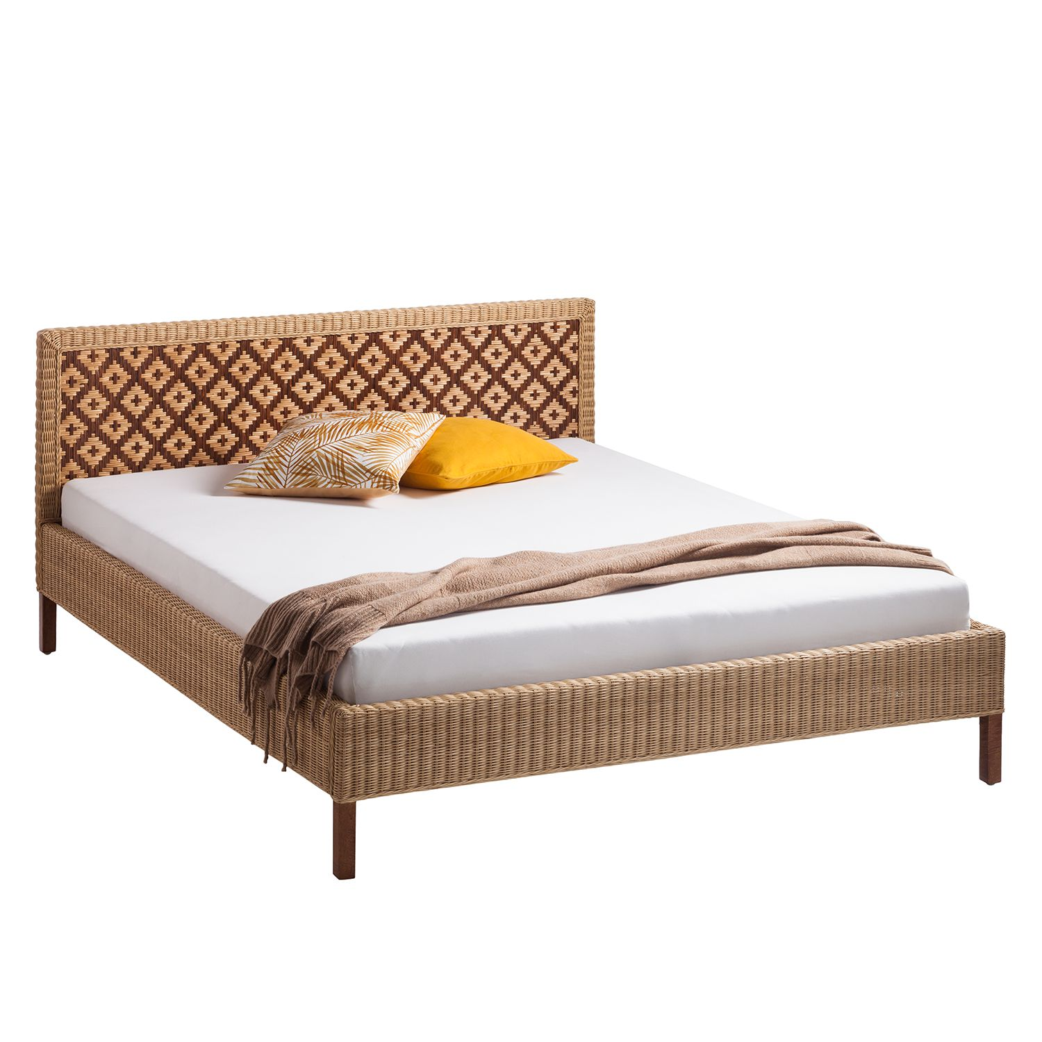 goedkoop Bed Lanipa Rotan Mangohout Eva Padberg Collection
