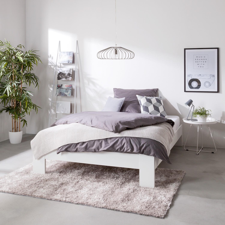Home Design Bett Rachel 120x200 cm Spanplatte Alpinweiß mit Lattenrost/Matratze Modern