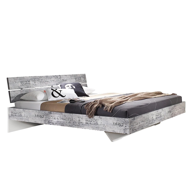 goedkoop Bed Sumatra 180 x 200cm Vintage Grijs Wit Rauch Select