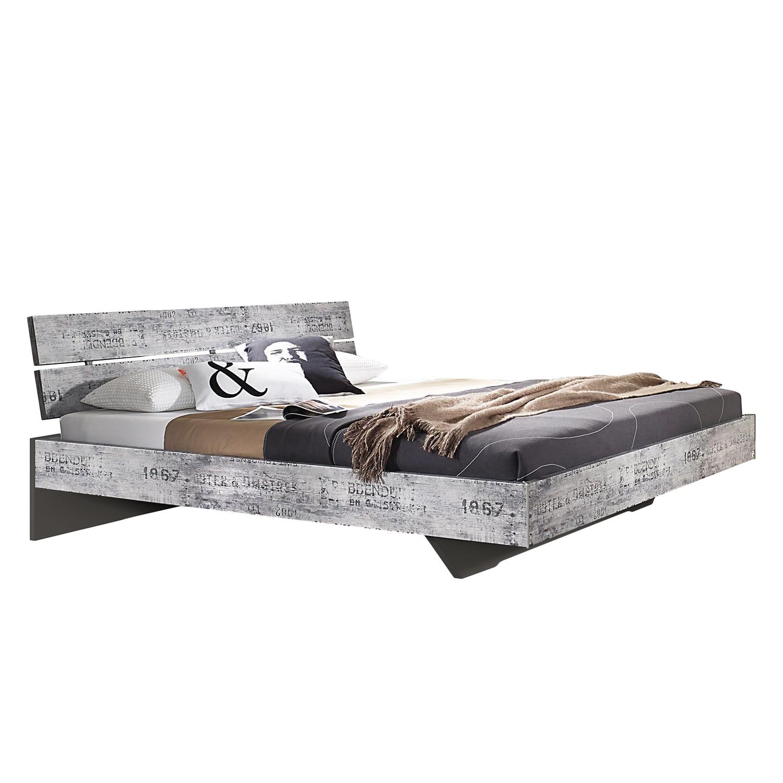 goedkoop Bed Sumatra 180 x 200cm Vintage Grijs Donkergrijs Rauch Select