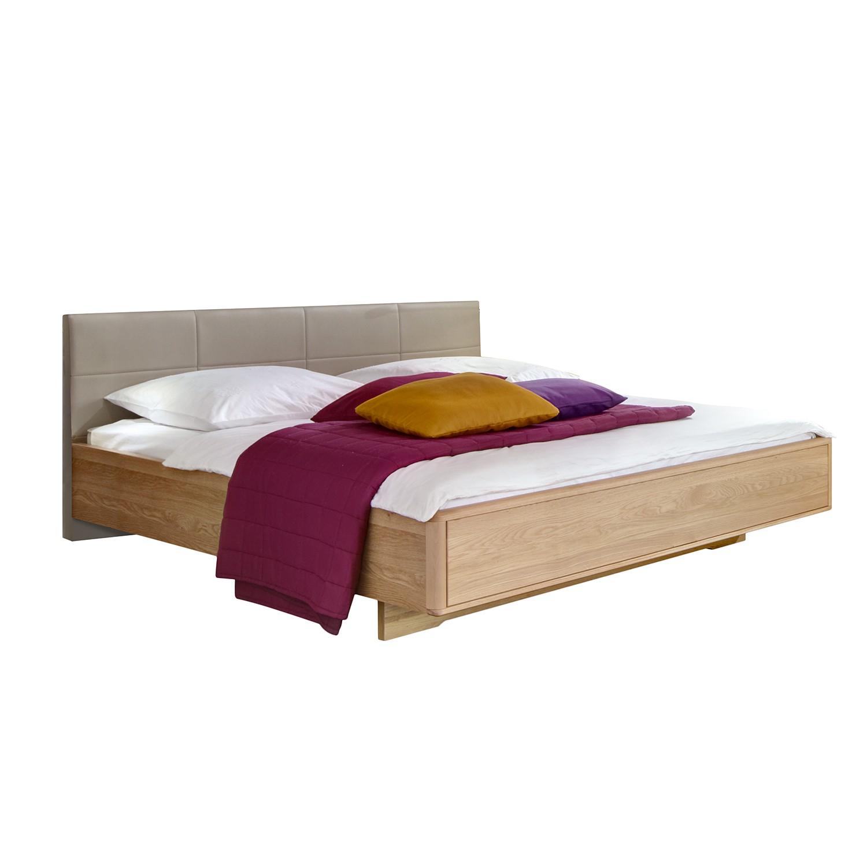 goedkoop Bed Torino deels massief eikenhout 200 x 200cm Saharakleurig Wiemann