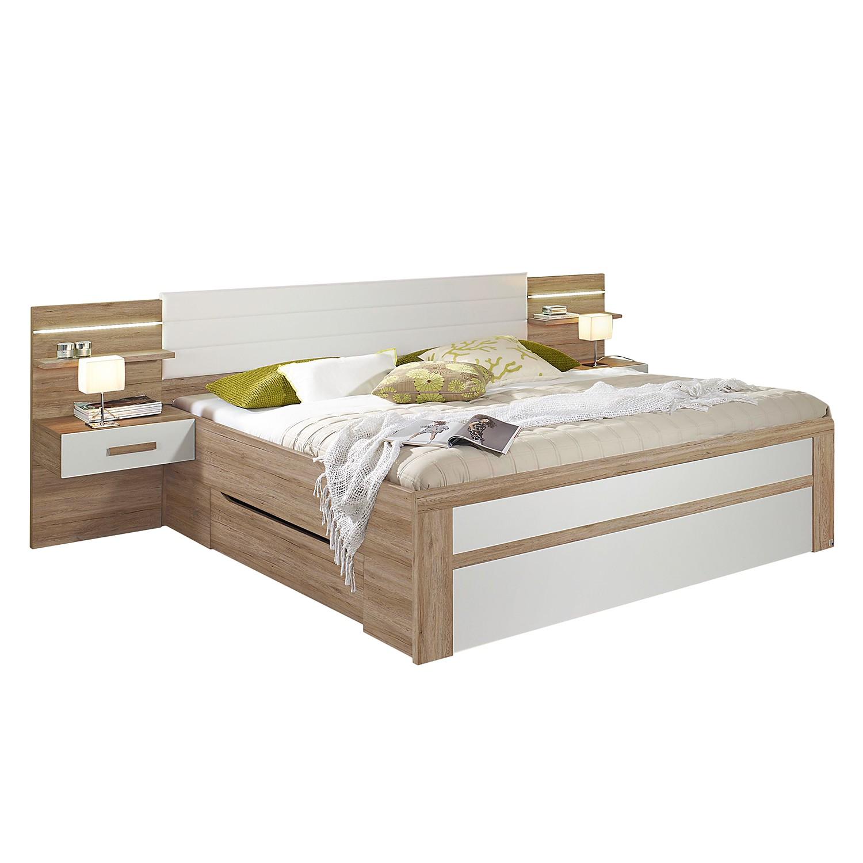 Ensemble de chambre à coucher Bernau - 160 x 200cm - Blanc alpin, Rauch Packs
