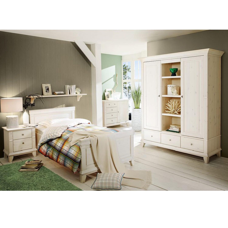 home24 Bettanlage Georgia klein / Weiss